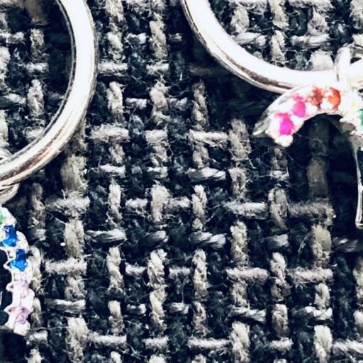 Aros con arcoiris colgante de circonitas de colores [2]