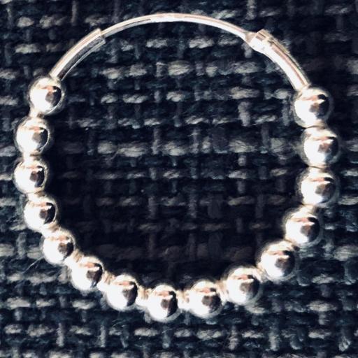 Aros de bolitas de plata 22mm [2]