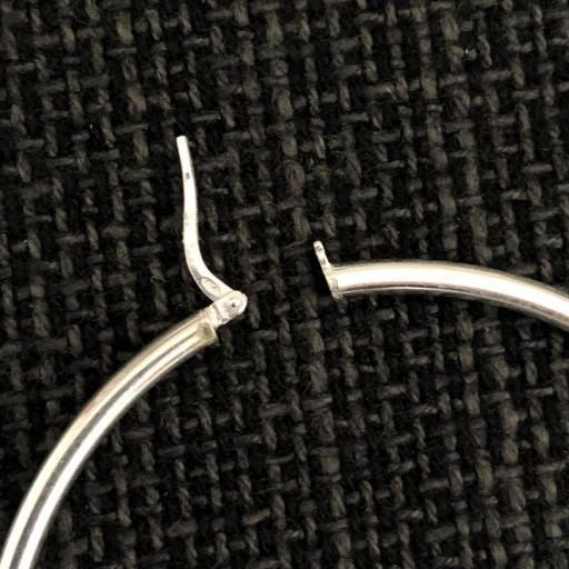 Aros de plata con cierre catalán 50mm [2]