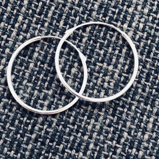 Aros de plata de 50 mm