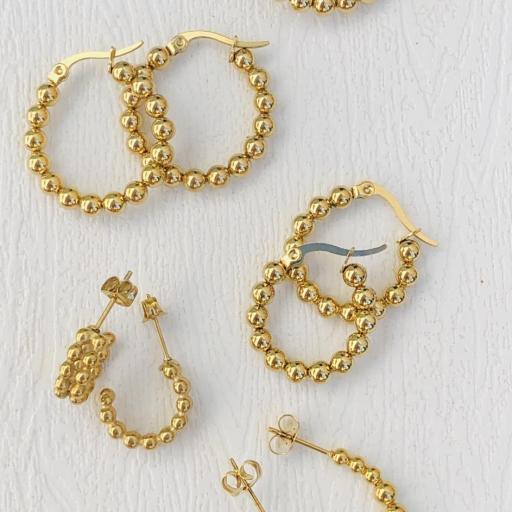Aros de bolas doradas 24 mm [3]