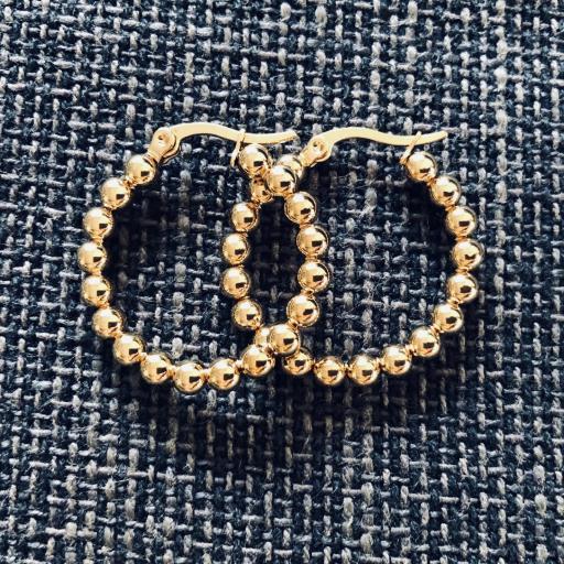Aros de bolas doradas 22 mm