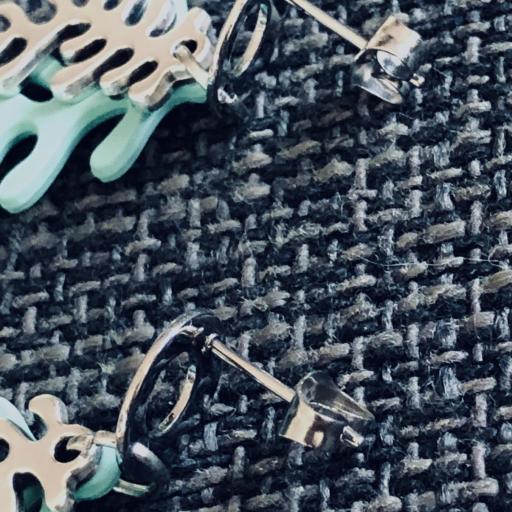 Pendientes con forma de coral en color verde turquesa y plateado [1]