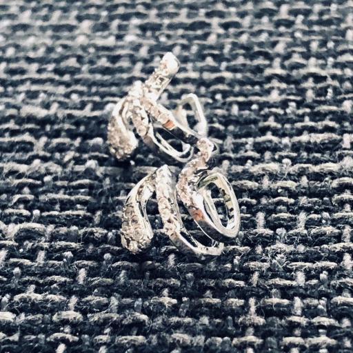 Earcuff  serpiente de  plata con circonitas  (venta por unidad) [1]