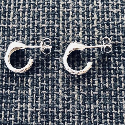 Pendientes criollas serpiente de plata 12 mm