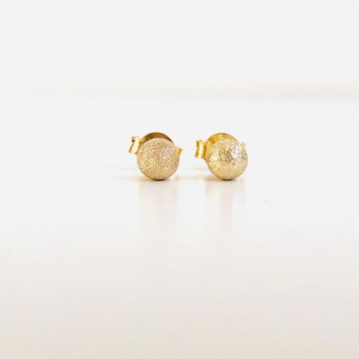 """Pendientes de botón colección """"Valentina"""" en baño de oro amarillo [1]"""