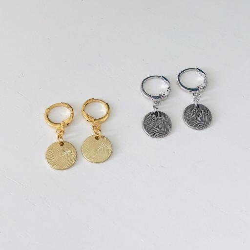 Aros criolla con círculo dorado [3]