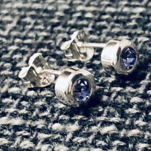 Pendientes de plata con cristal violeta [1]