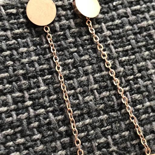 Pendientes circulares en tonalidad oro rosa  [1]