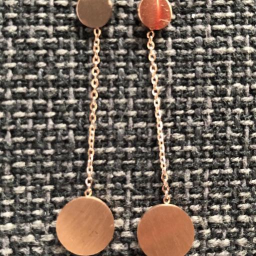 Pendientes circulares en tonalidad oro rosa  [2]