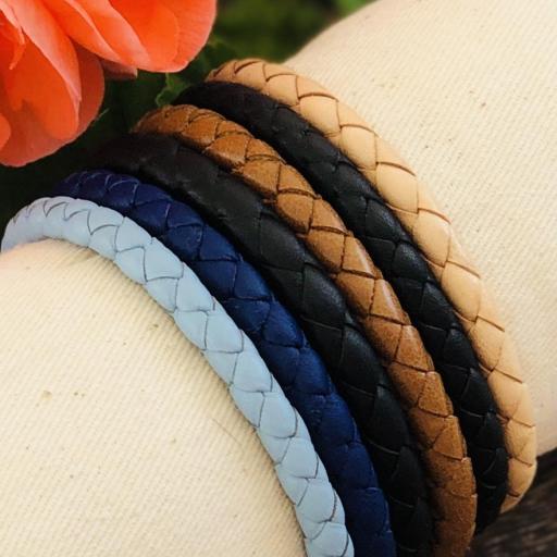 Pulsera de piel escamada azul marino [2]
