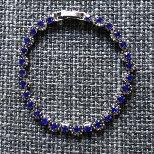Pulsera metálica azul  [0]