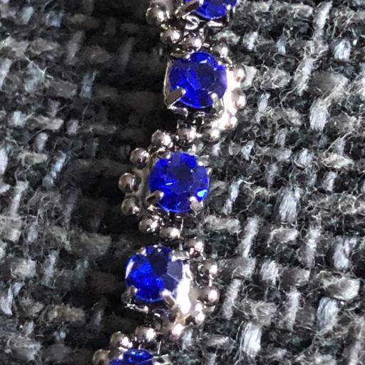 Pulsera metálica azul  [1]