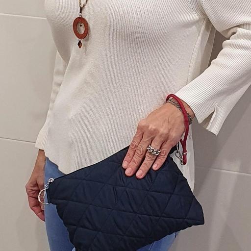 Bolso boatiné colección Rose color azul marino [3]