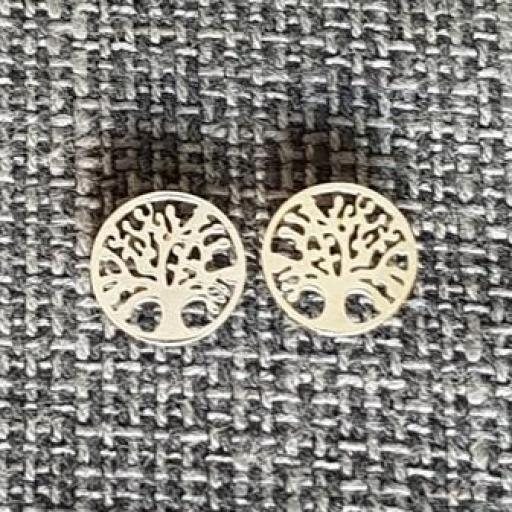 Pendientes árbol de la vida acero [0]
