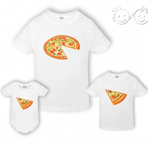 Pack camiseta/body papá pizza