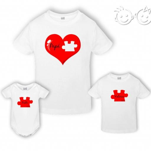 Pack camiseta/body papá puzzle