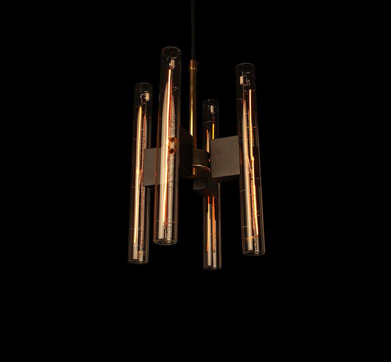 HFOUR Lamp with 4 units of Line 30 S Light Bulbs