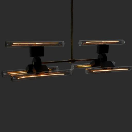 HSIX Lamp with 6 units of Line 30 S Light Bulbs [1]