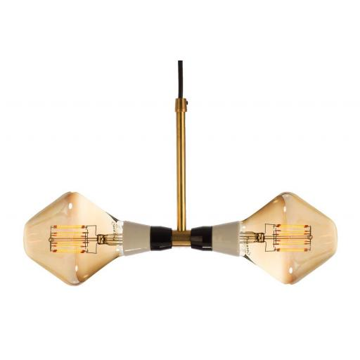 T-Duo Lamp with 2 R105 Golden