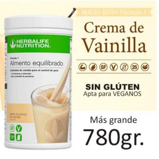 Batido fórmula 1 780 gr  Crema de Vainilla