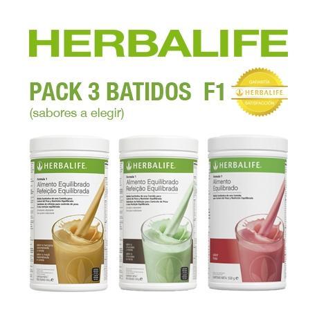 Pack 3 Batidos fórmula 1