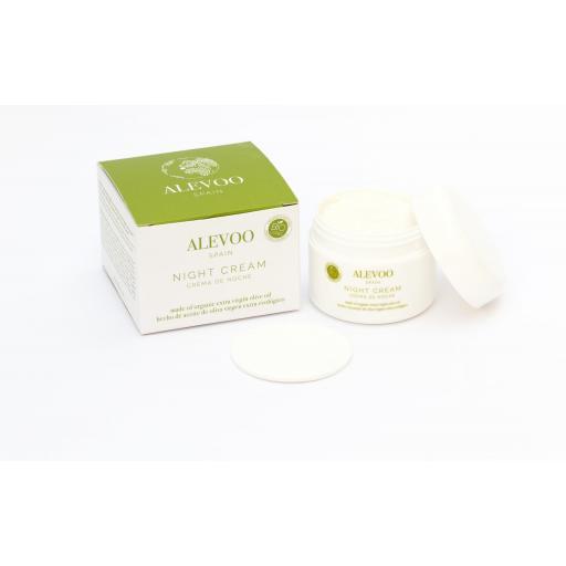ALEVOO Crema ecológica de noche nutritiva y regeneradora AOVE