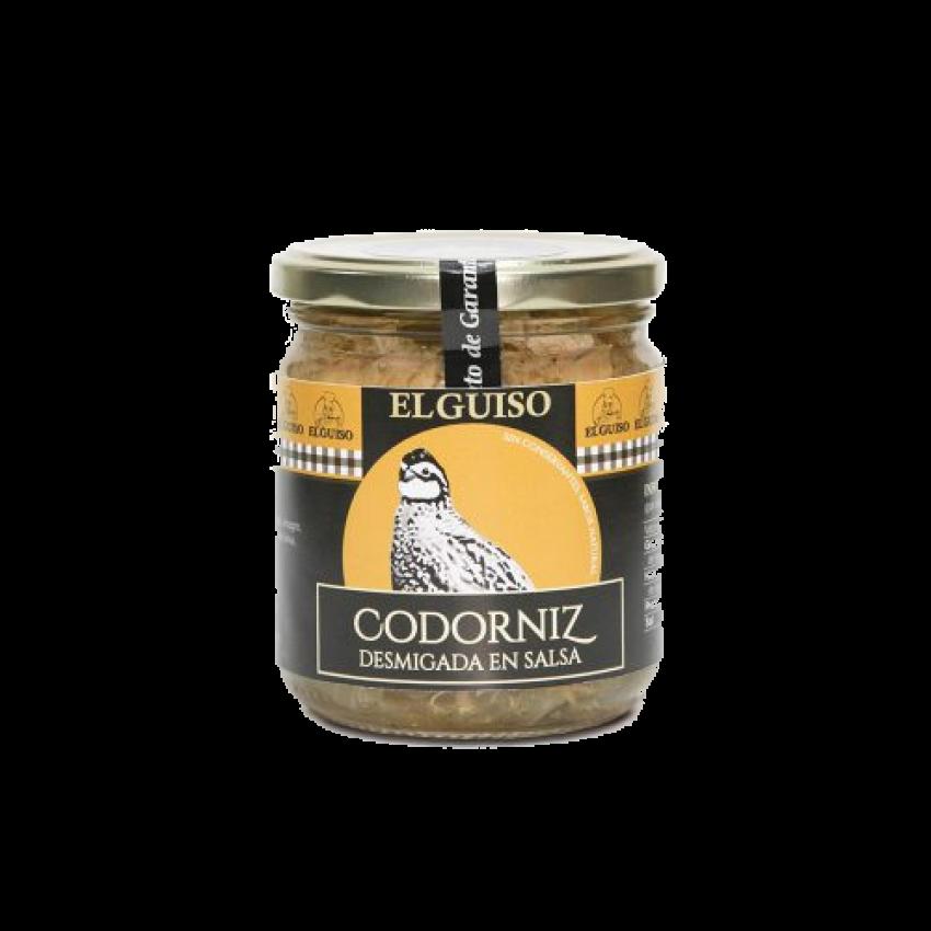 Codorniz desmigada en salsa