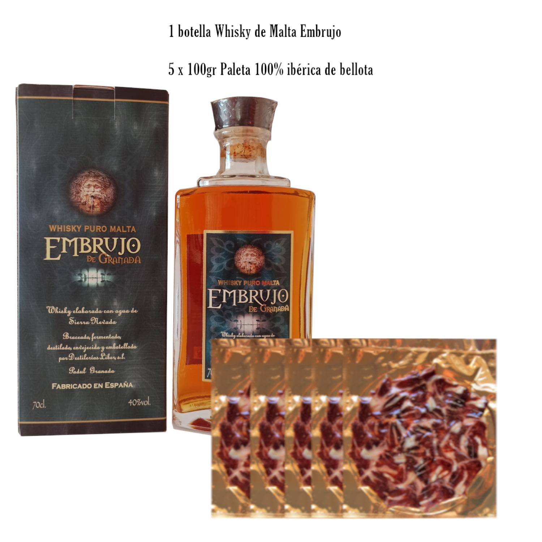 Whisky malta Embrujo y paleta ibérica