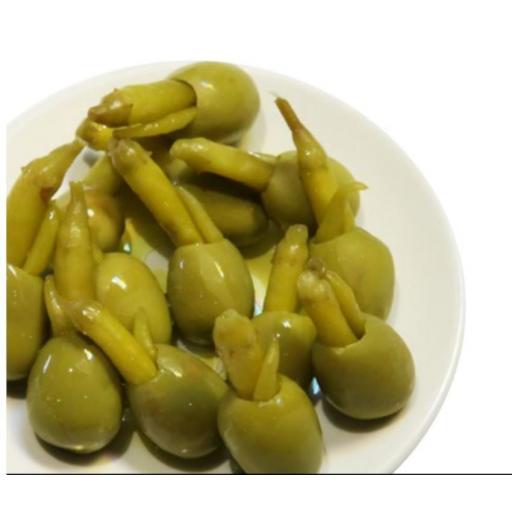 Zubelzu Aceituna Gordal con Piparra Pack 6 [1]