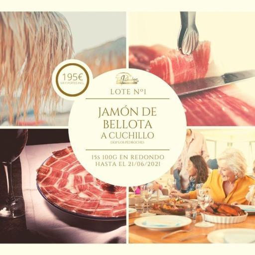 IBESA  Lote Jamón de bellota 100% ibérico