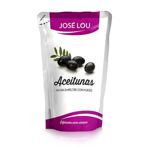 Aceitunas negras con hueso empeltre doypack