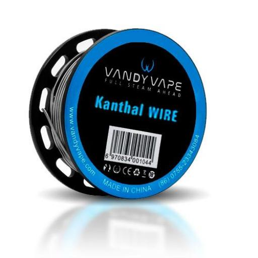 VANDY VAPE KANTHAL A1 TWISTED CLAPTON WIRE 28GA*2(&)+32GA 10FT