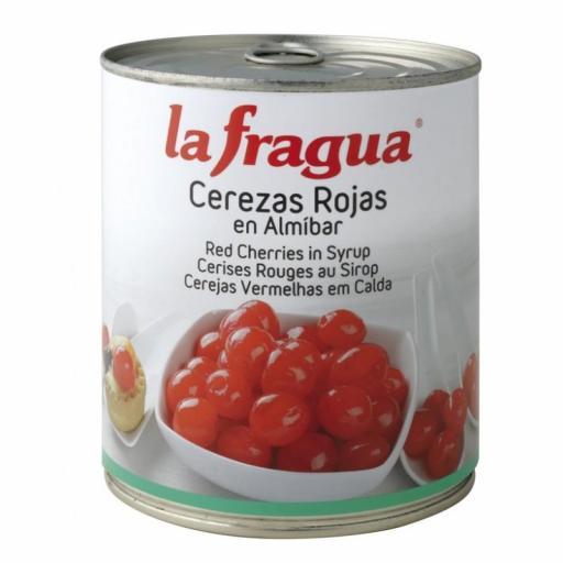 cerezas rojas en almíbar lata 1 kg
