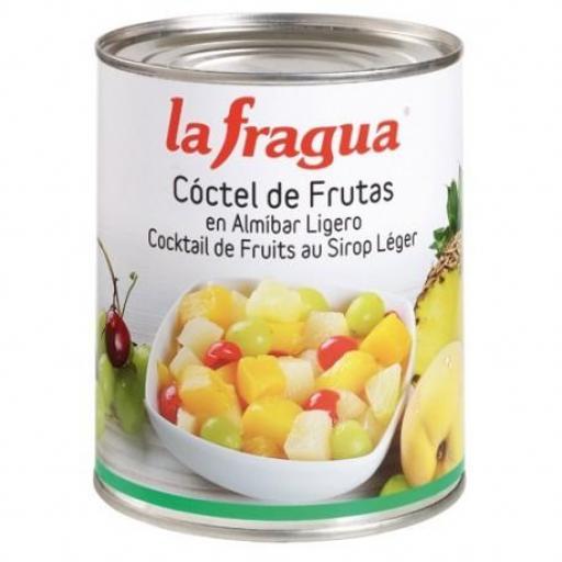 coctel de frutas en almíbar lata 1 kg