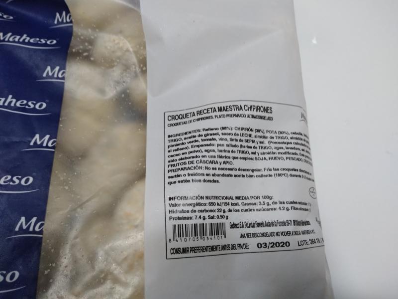 CROQUETAS DE CHIPIRONES ,RECETA MAESTRA