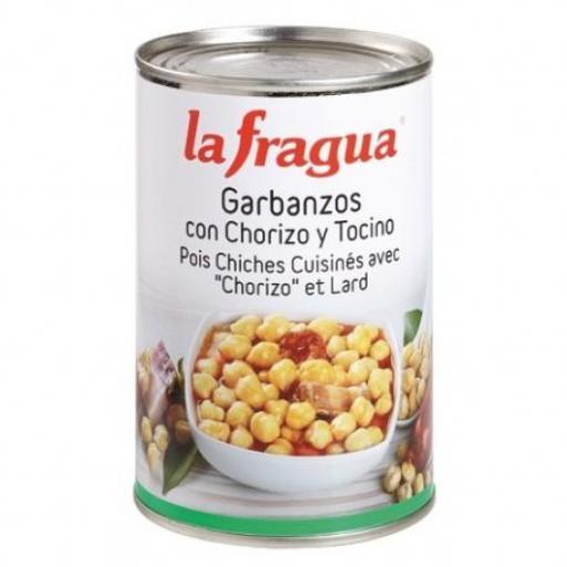 garbanzos con chorizo 12*500 gr