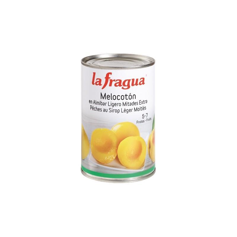 melocotón el almíbar lata de 500 gr