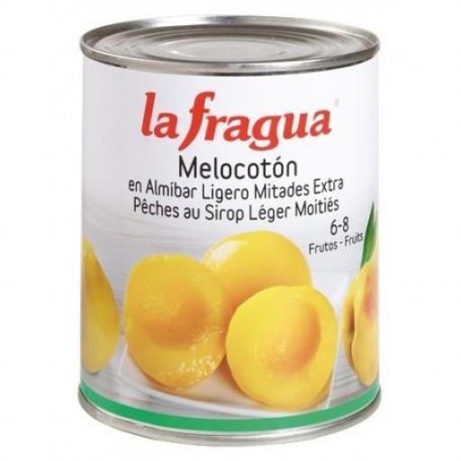 melocotón en almíbar lata 1 kg