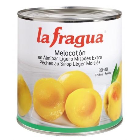 melocoton en almibar lata 3 kg