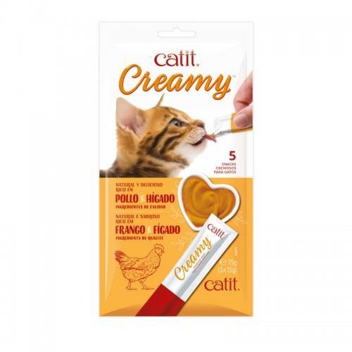 Snack cremoso para gatos