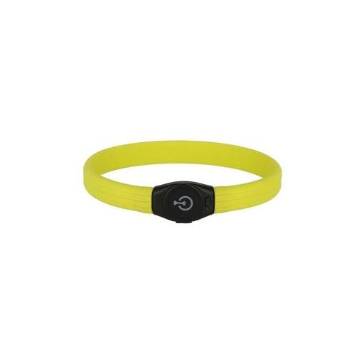 Collar LED ancho para visibilidad nocturna