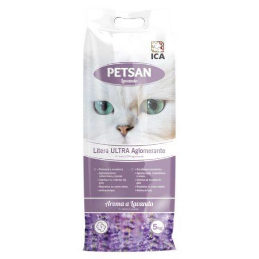 Arena aglomerante para gatos con aroma a lavanda 5kg