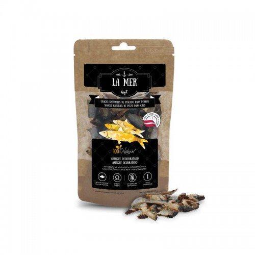 Snacks naturales a base de pescado deshidradado para perros LA MER