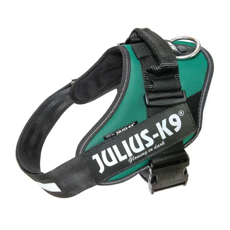 Arnés para perros JULIUS en color verde oscuro