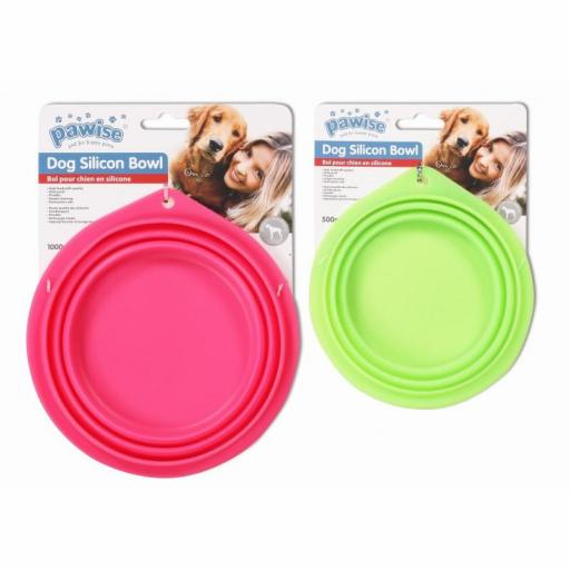 Bowl de silicona para mascotas ideal en viajes o excursiones