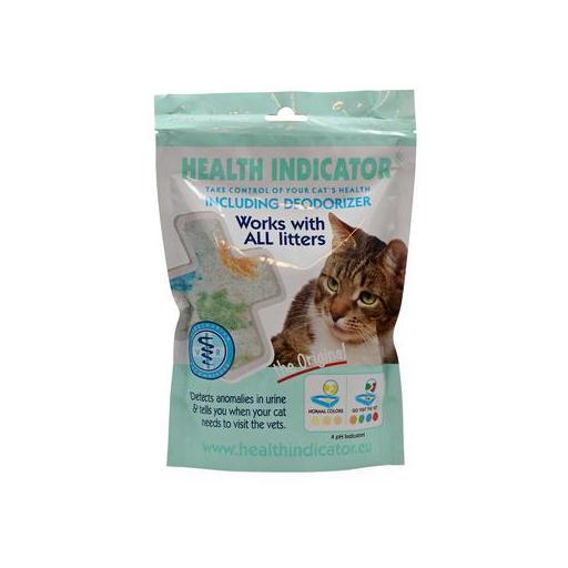 Indicador para la arena sanitaria del gato la aparición de cálculos