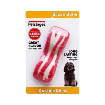 Juguete dental con sabor a bacon