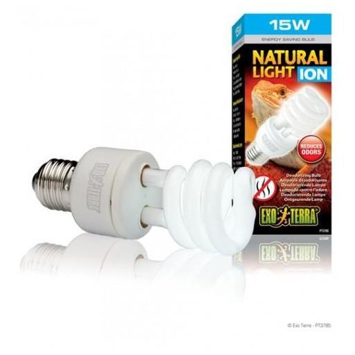 Bombilla de bajo consumo que ayuda a eliminar el mal olor del terrario y a mejorar la calidad del aire NATURAL LIGHT ION