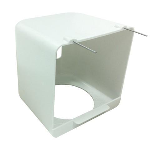 Nido de plastico exterior con rejilla trasera para pajaros